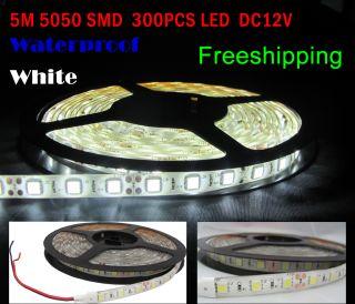 5M 5050 SMD 300 LED Warm White Waterproof Flex Light Strip 60LED M DC