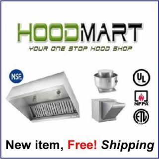10ft 10 10 Foot Restaurant Hood System Make Up Air Exhaust Fans