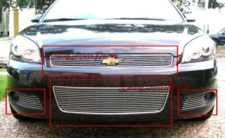 06 08 Chevy Impala SS Lt Front Grill Aluminum Billet Grille Combo