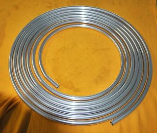 Series 3 8 Steel Fuel Line Tubing 25Ft Zink Plated Transmission 25 Ft