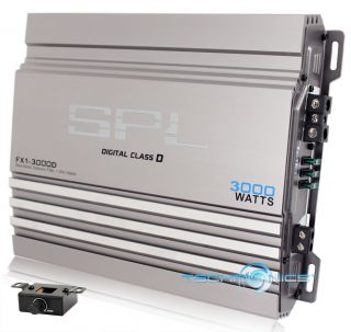 SPL FX1 3000D MONOBLOCK 3000W MAX CLASS D MOSFET CAR AMPLIFIER W/ BASS