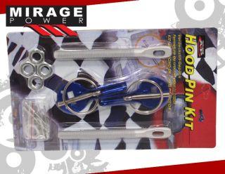 Aluminum Racing Hood Pins Blue Pin Kit 240sx G35 350Z