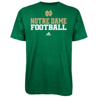 Notre Dame Fighting Irish Adidas 2012 Football Practice T Shirt Kelly
