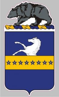 AR 2082 8th Cavalry Calvary Regiment COA Army Military Bumper Sticker