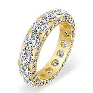 00ct Round Cut Diamond Eternity F VS1 Wedding Band Ring 14k Gold