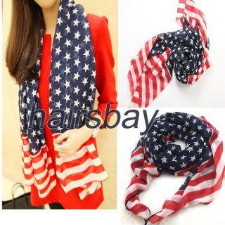 Silky, kerchiefs,multifunction,Fashion Scarf ,American flag design