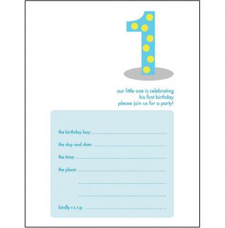 Kids Birthday Invitation Template - Birthday invitation templates for 1 year old
