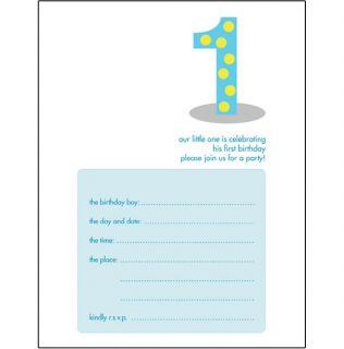 Kids Birthday Invitation Template - Birthday invitation templates for 1 year old