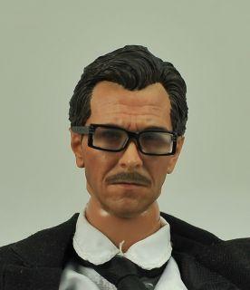 Custom 1 6 Gary Oldman Head Sculpt Glasses 12 Figure Jim Gordon Dark