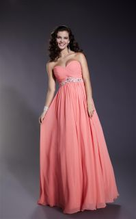 Elegant A line Empire Chiffon Formal Beaded Evening Dress Party Ball