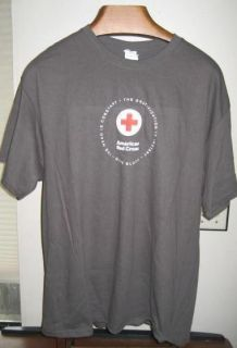 American Red Cross T Tee Shirt Gray XL Extra Large