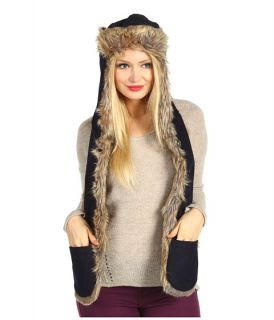 SpiriHoods Navy Wool Full Raccoon rapper   Zappos Free Shipping