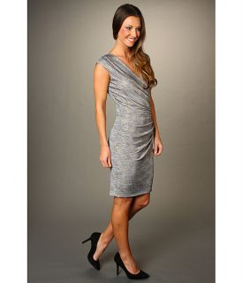 Ellen Tracy Ruched Guilded Jersey Dress