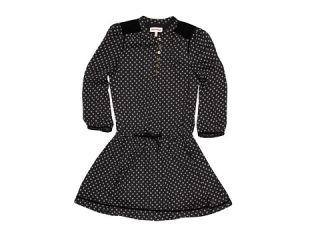 Juicy Couture Kids   Velvet Trim Drop Waist Dress (Toddler/Little Kids