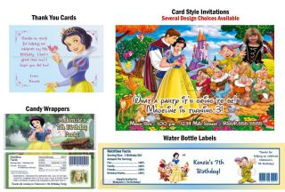 Princess Snow White Birthday Party Ticket Invitations Supplies and
