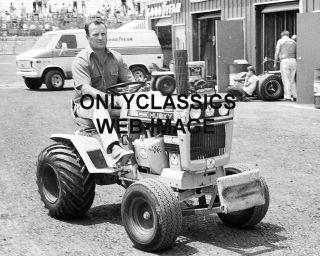 1971 A J Foyt on Husky Push Tractor Pocono Race Photo