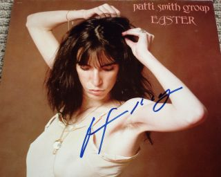RARE Patti Smith Signed Easter Vinyl Album LP Very RARE