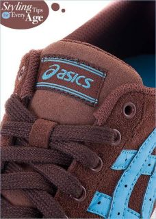 Brand New Asics Aaron Le Shoes Brown Blue H935K 6149 5B