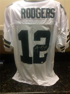 Aaron Rodgers Signed white Packers Authentic Jersey (Steiner COA)