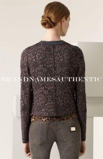 Dolce Gabbana Women Floral Lace Virgin Wool Jacket Blazer It 44 US 8 $