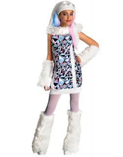 New Monster High Abbie Bominable Child Halloween Costume Dress Up