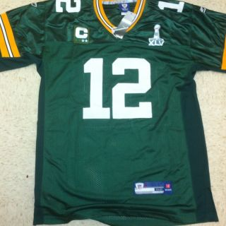Aaron Rodgers Green Bay Packers Jersey, Green, Size 52 (XL), Reebok NO