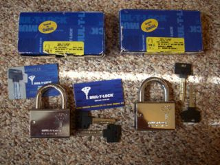 HIGH SECURITY MUL T LOCK ABLOY MEDECO PADLOCK SHED GATE VAN TRUCK HASP