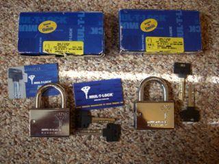 HIGH SECURITY MUL T LOCK ABLOY MEDECO PADLOCK SHED GATE VAN TRUCK HASP