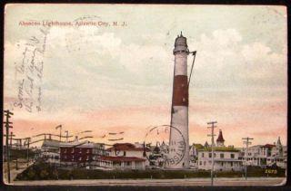 Absecon Lighthouse Atlantic City New Jersey NJ 1917 Postcard