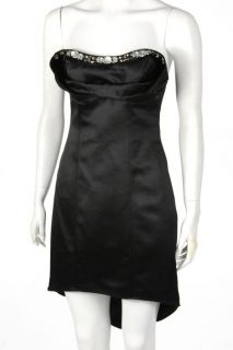 New ABS by Allen Schwartz Beaded Strapless Dress Black US Size 4