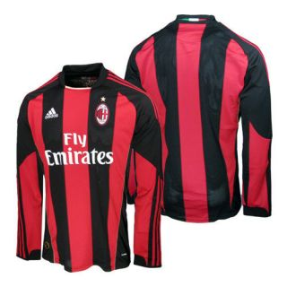 NWT Adidas AC Milan Italy Futbol Soccer Shirt Football LS Home Jersey