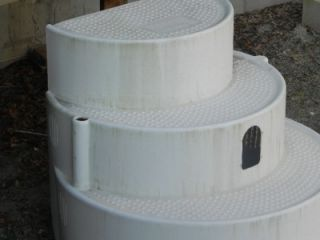 wedding cake style above ground pool steps 3 high 48 depth - Above Ground Wedding Cake Pool Steps