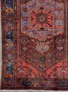 ANTIQUE PERSIAN SARAB HAND KNOTTED WOOL AREA RUG WITH BIRDS, ABRASH