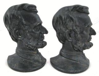 Vintage Cast Iron Abraham Lincoln Book End Pair