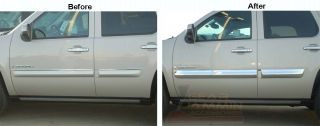 GMC Yukon Denali Chrome Door Trim Molding Covers 2007
