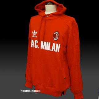 Adidas Originals AC Milan Retro Hoodie sweat Top New BNWT Giacca