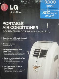 LG LP0910WNR 9 000 BTU Portable Air Conditioner Brand New