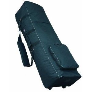 STOCK R J DELUXE GOLF CLUB TRAVEL BAG PADDED TOP FOR CLUB PROTECTION