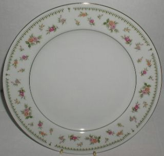 Abingdon Fine Porcelain Dinner Plate Pink Orange Roses