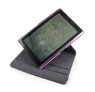 Pink 360 Degree Rotating Stand Case For Acer Iconia Tab A500 Tablet PC