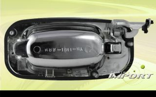 New Pair All Chrome Outside Exterior Rear Door Handle Cover Chevy GMC