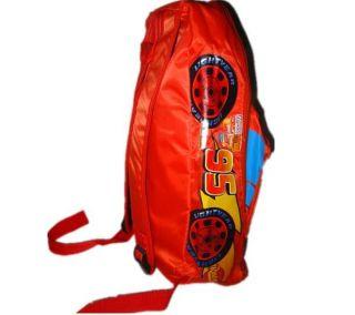 Girl Boy Rust Ete Disney Cartoon Racing Cars Red Backpack School Bag