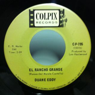 45 DUANE EDDY el rancho grande / poppas movin on 7 VG+ CP 79 Record