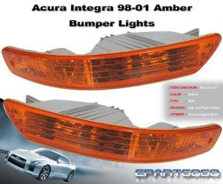 1998 2001 Acura Integra JDM Amber Signal Bumper Lights