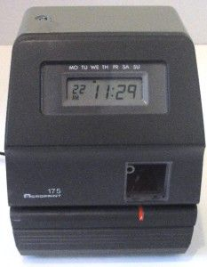 acroprint 175 time clock time recorder time stamp