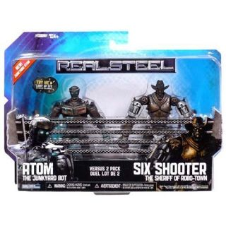 Real Steel Movie Basic Action Figure 2pack Atom vs Six Shooter