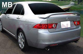 04 08 acura tsx sedan factory oem style spoiler primer