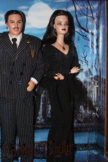 The Addams Family Morticia Barbie Gomez Ken Dolls