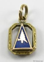 Order Eastern Star Gold Masonic Adah Sword Veil Charm