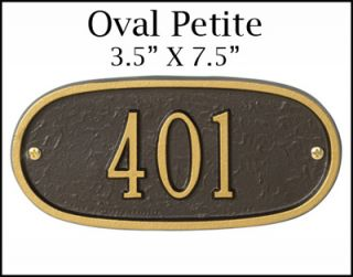 New Personalized Oval Petite Address Plaque Marker Sign